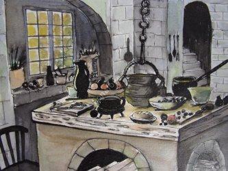 Medieval Kitchen 1: Fiona Love Art