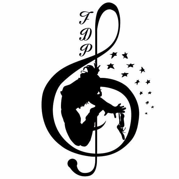 Black and White Fantazee Logo: Fantazee Dance