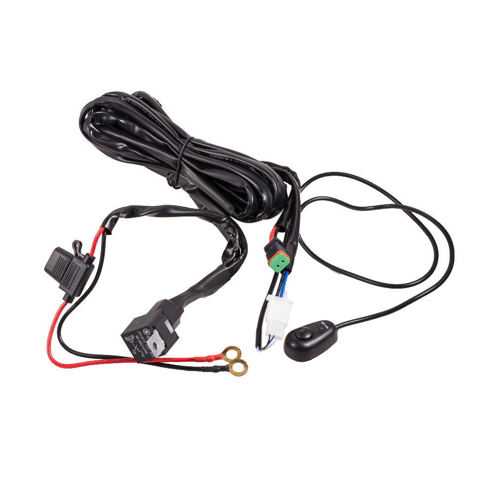 LED Driving Light Wiring Loom Harness Relay Kit Lamp Plug