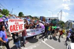Ação Civil pede fim da greve dos professores sob pena de prisão por descumprimento, no AM