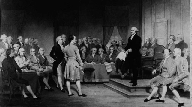 George Washington Addressing the Constitutional Convention - Junius Brutus Stearns, 1856