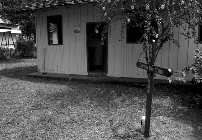 A casa na qual morou a irmã Dorothy Stang, em Anapu