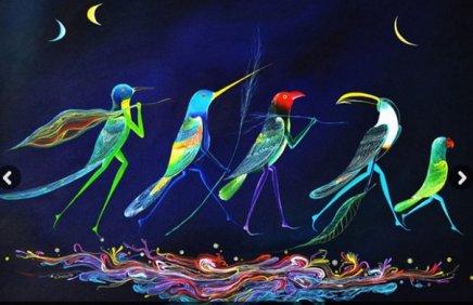 Rember Yahuarcani - Les oiseaux et ses couleurs, 2015