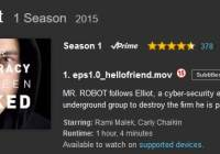 Mr Robot on Amazon Prime