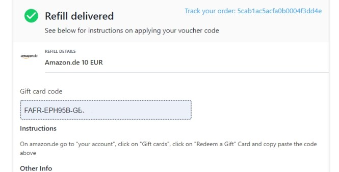 I have bought a 10 Euro gift card on Amazon.de paying with Litecoin