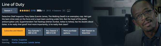 Watch Line of Duty on Amazon Prime