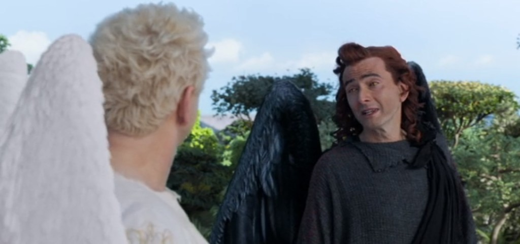 Watch these crazy guys in Good Omens on Amazon Prime