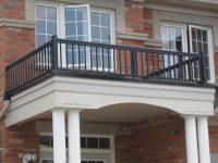 (14) Double Columns Under Balcony | Aluminum Railings Toronto
