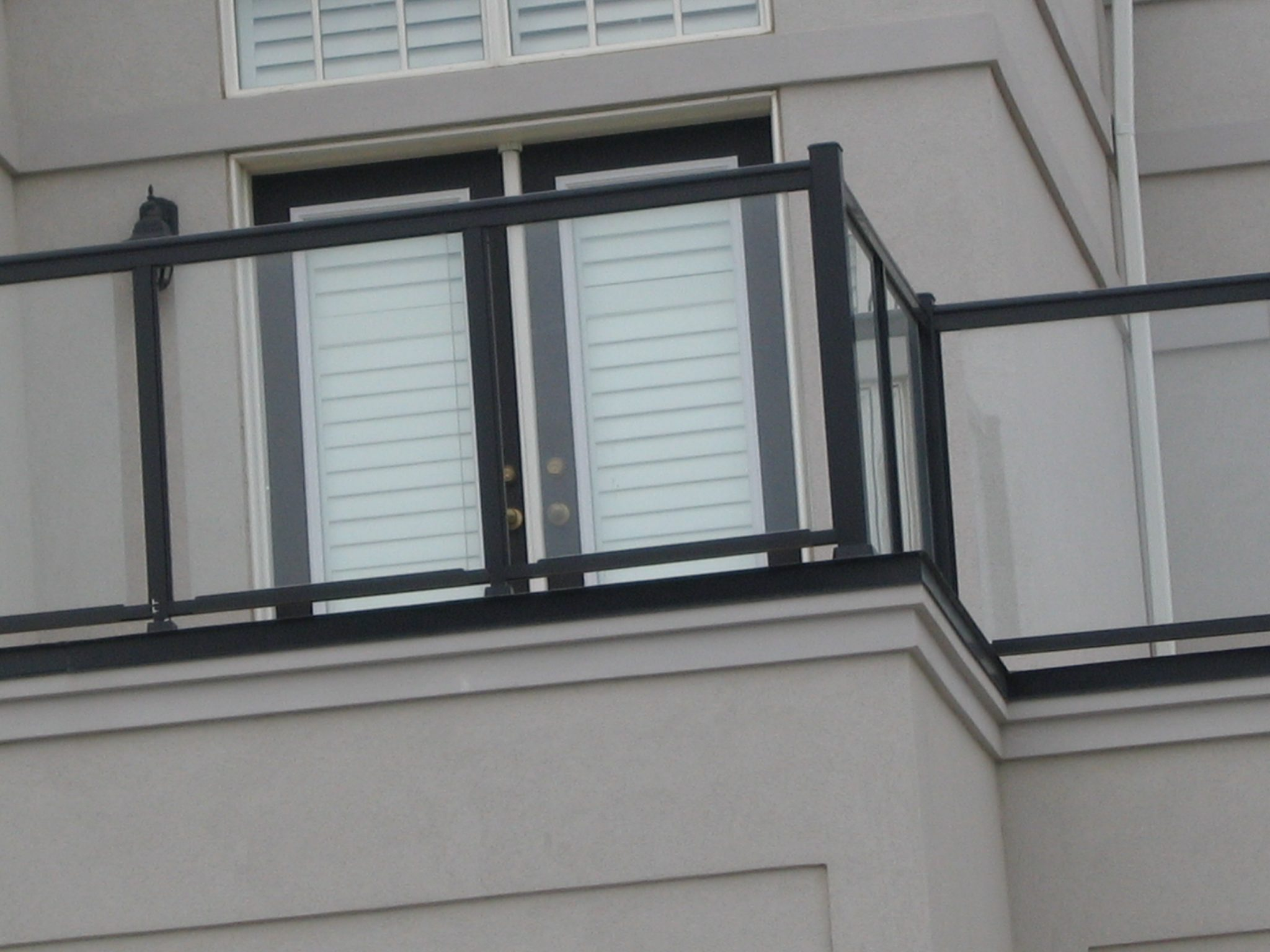 French door on balcony