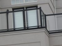 French door on balcony | Aluminum Railings Toronto