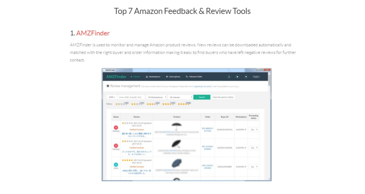 amazon product finder software