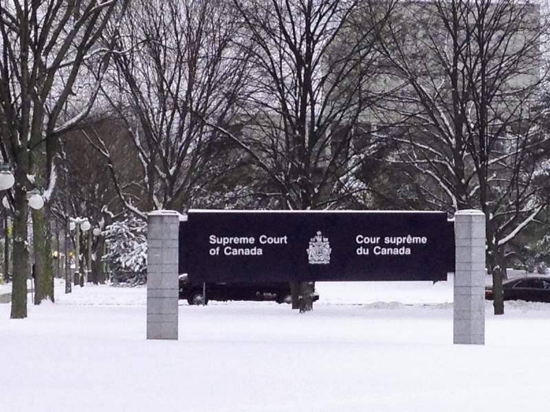 A snowy day at the Canadian Supreme Court