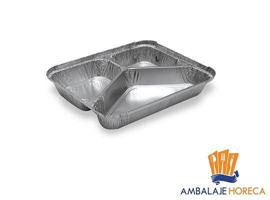Caserola din aluminiu cu 3 compartimente