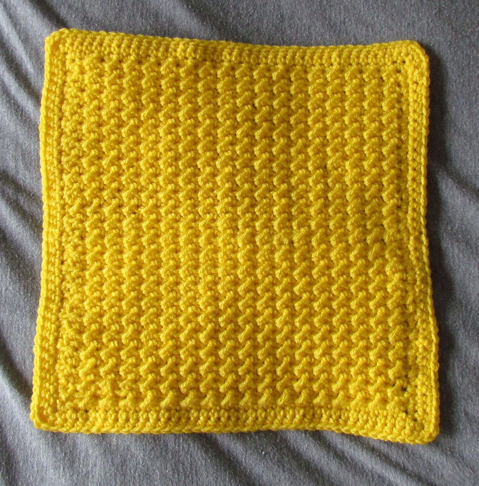 "Moss Stitch 12"" Afghan Square - Free Crochet Pattern ..."