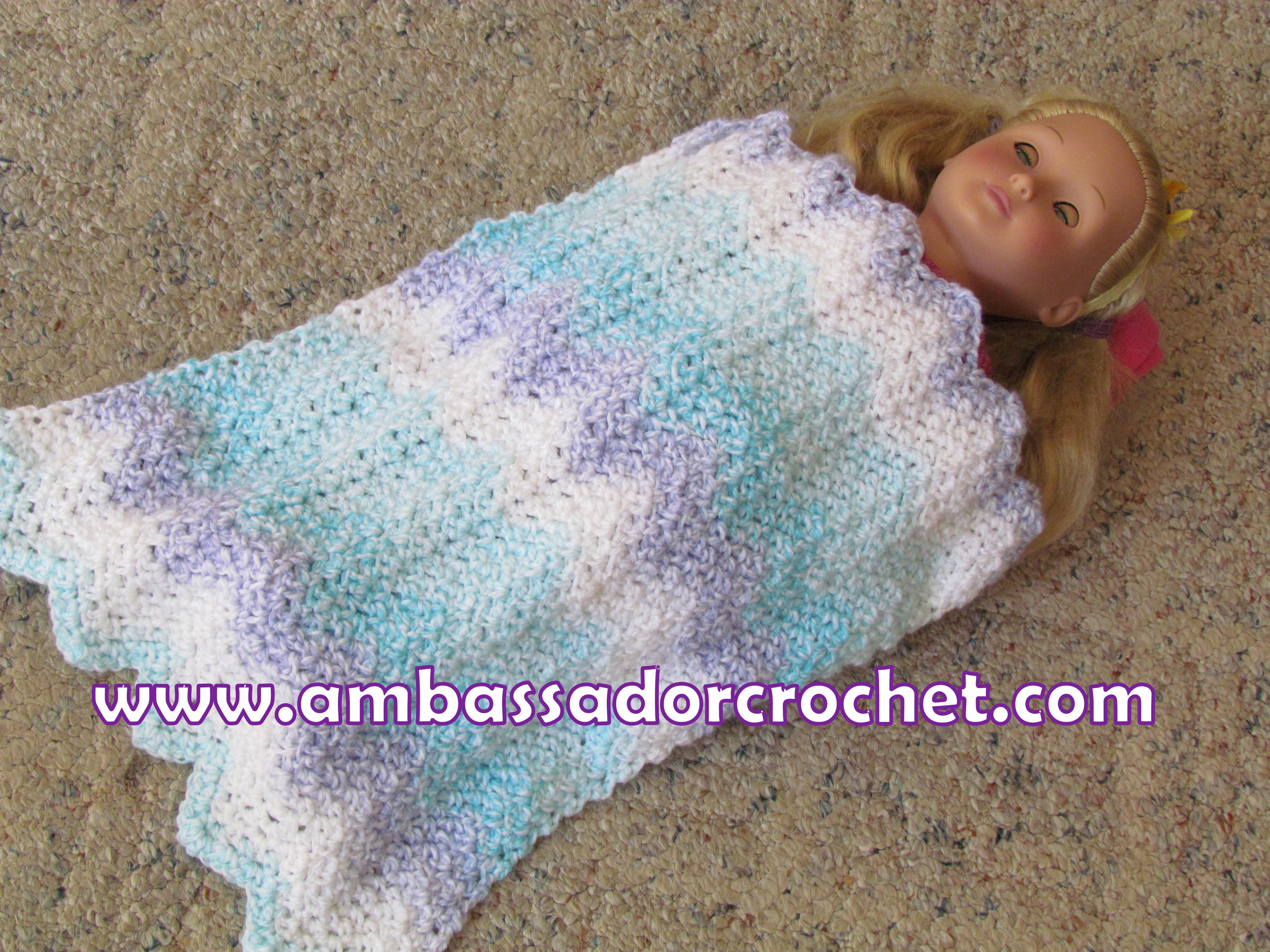 18 Doll Blanket Free Crochet Pattern Ambassador Crochet