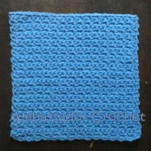 Grit Stitch Dishcloth