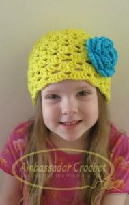 Rae of Sunshine crochet spring hat
