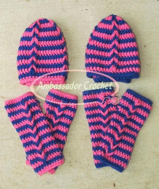 Bff Chain Link Hat Mitten Pattern Sale Ambassador Crochet