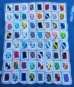 Awareness Ribbon afghan