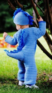 Stegosaurus dinosaur crochet costume