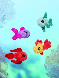 Crochet guppies fish