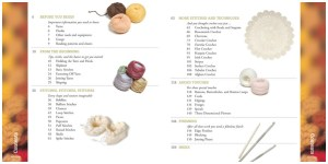 A to Z of Crochet table of contents