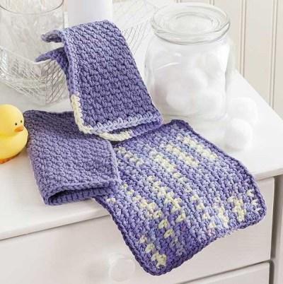 Crochet Refresher washcloths