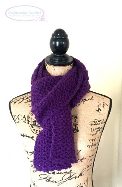 Grapevine Scarf crochet pattern - Design by Ambassador Crochet