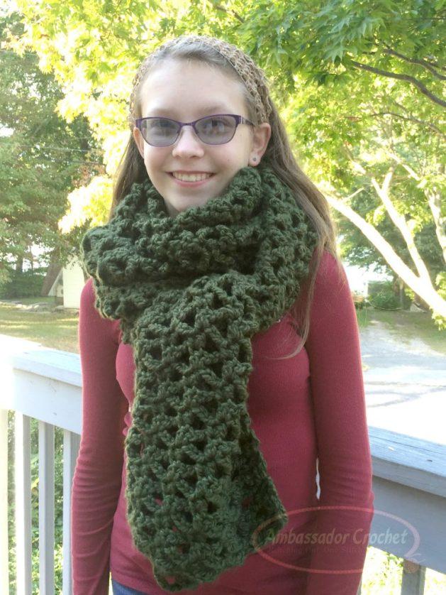 Climbing Ivy Super Scarf by Ambassador Crochet