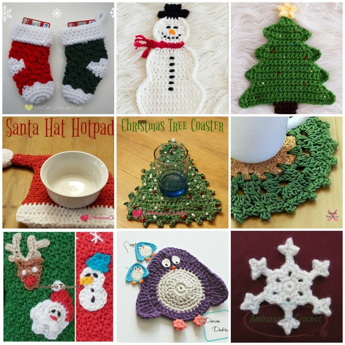 Holiday Decor Roundup - Quick items to crochet to add to your holiday decorations.