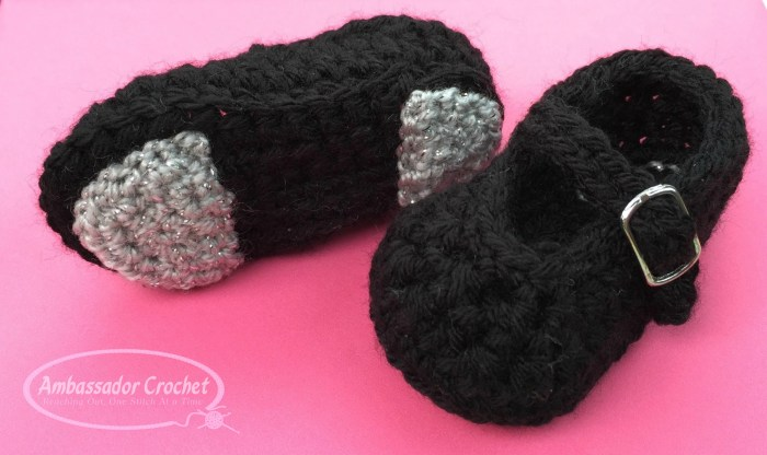 Baby Tap Shoes crochet pattern by Ambassador Crochet - $3.50