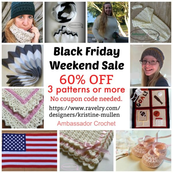 Crochet Pattern Sales Event - black friday thru cyber monday - sales, giveaways, sneak peeks, and more.