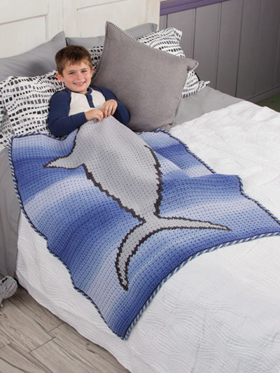 Tails of the Sea - shark kid's crochet blankets - book review by Ambassador Crochet.