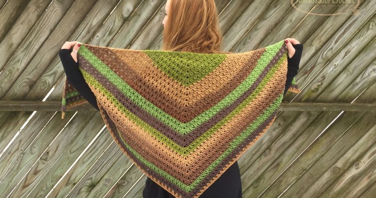 Crossroads Shawl Crochet Pattern