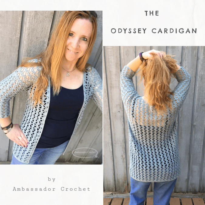 The Odyssey Cardigan crochet pattern by Kristine Mullen / Ambassador Crochet