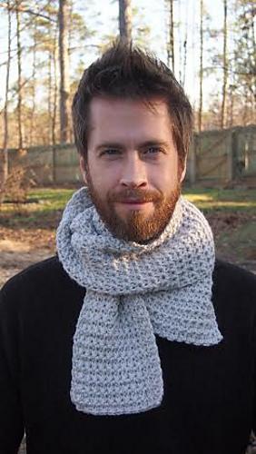 men's metro scarf crochet pattern