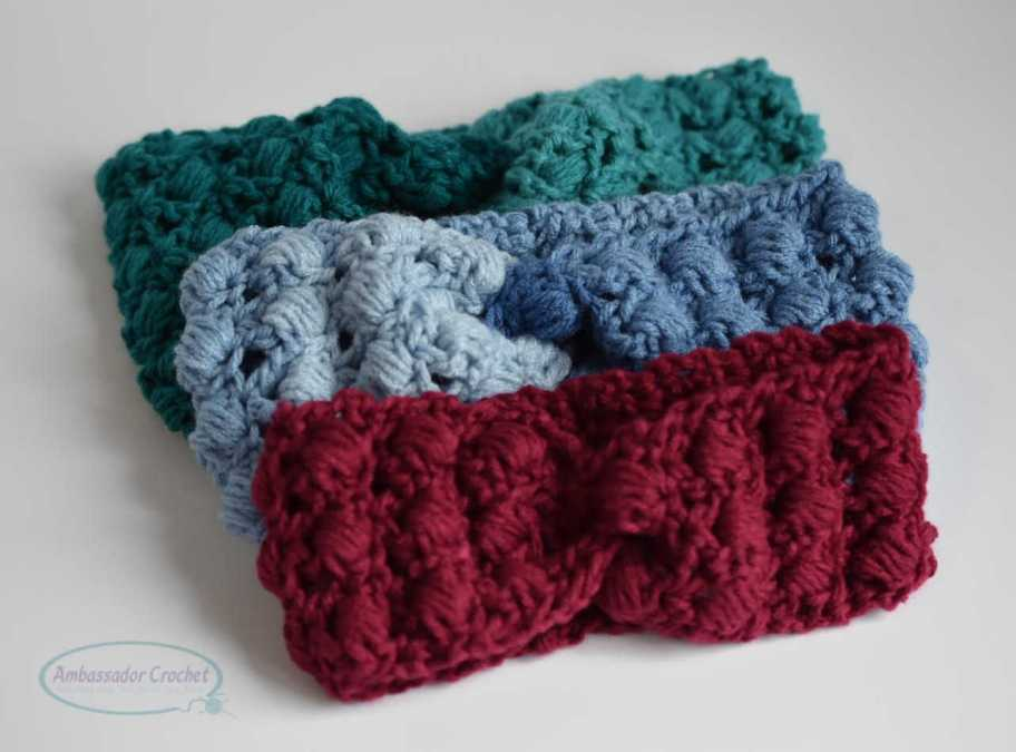 The Berry Bliss Ear Warmer is a fun crochet pattern that is full of texture.