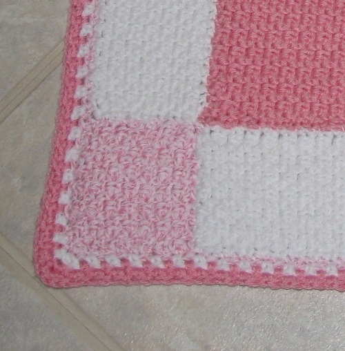 Large Gingham Square Baby Afghan Crochet Pattern Pdf 015