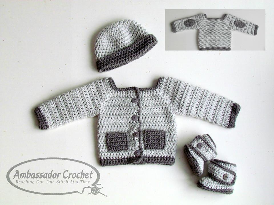 His Hers Baby Layette Crochet Pattern Pdf 216 Ambassador Crochet