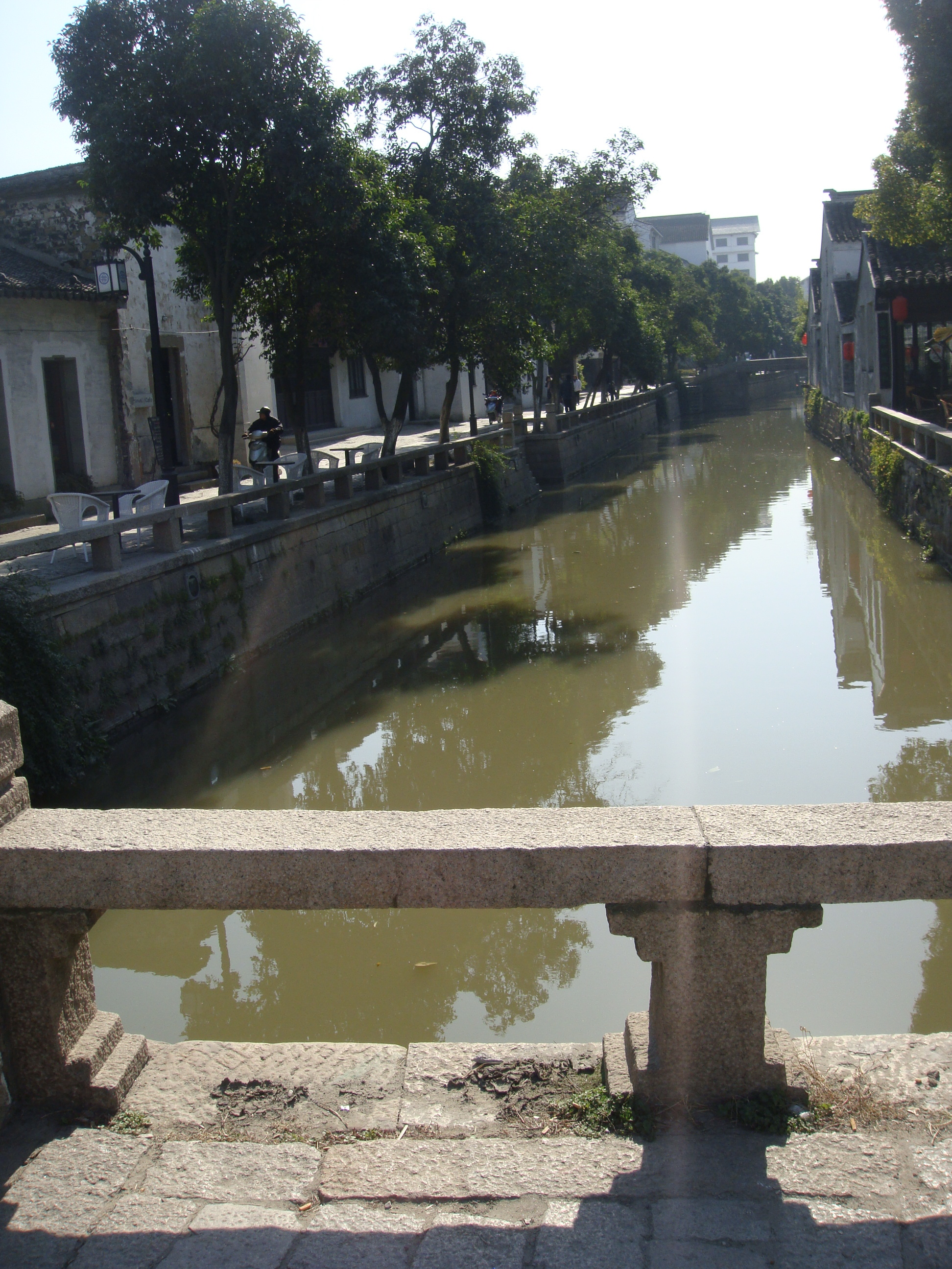 Venice style canal in front of the hostel