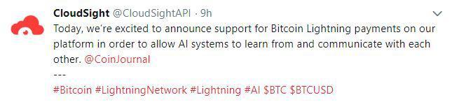 CloudSight's tweet   Source: Twitter