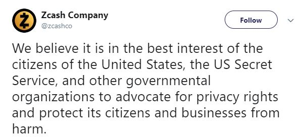 Zcash Company's tweet | Source: Twitter