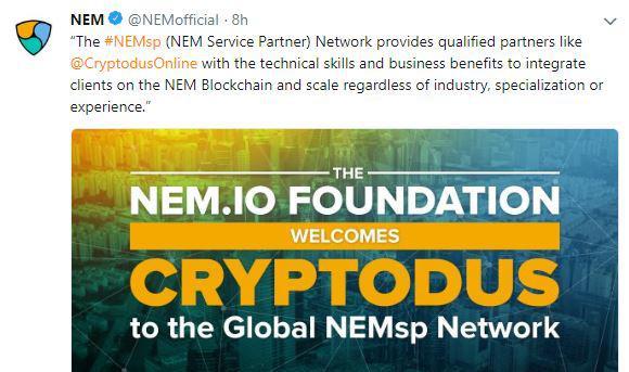 NEM's tweet | Source: Twitter