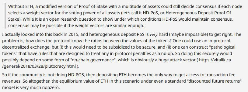 Vitalik Buterin response on the topic of Proof of Stake | Source: Reddit