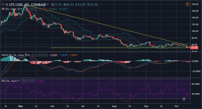 Litecoin 1-day price candles | Source: tradingview