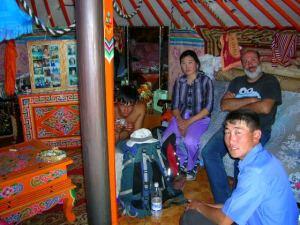 """En una """"ger"""" a prop de Gurvan Saikhame (Mongòlia)"""