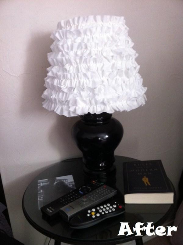 DIY ruffle lamp