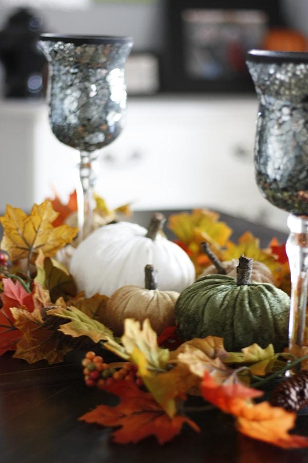 Adventures In Decorating Our 2015 Fall Kitchen: DIY Velvet Pumpkins