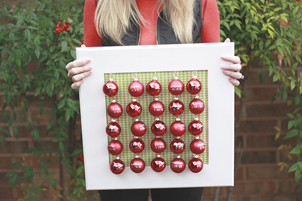 Advent Calendar with Mini Ornaments