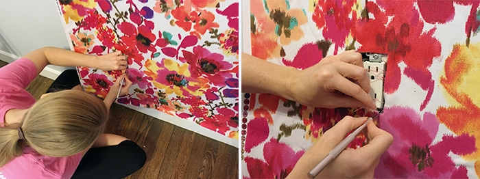 cutting-around-the-outlet-for-diy-fabric-wall